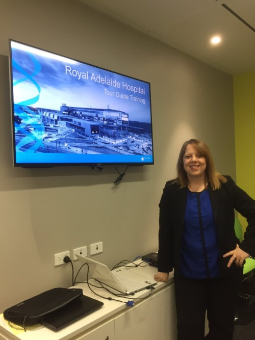 Gina Brooks before the training, where she taught SA Health volunteers about storytelling and great tour experiences.