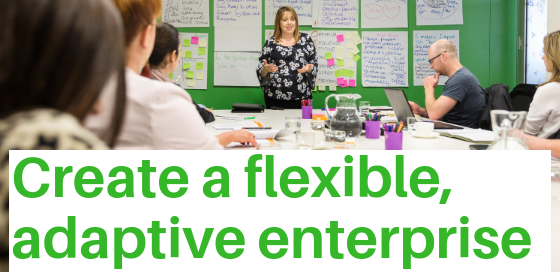 Create a flexible, adaptive enterprise, with resilience.